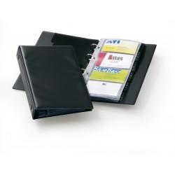 Névjegykártyatartó Durable Visifix 145x255 mm 96 db-os 4 gyűrűs regiszteres fekete