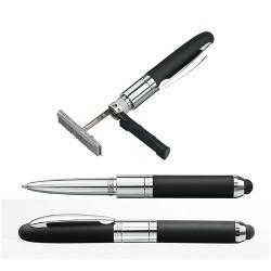 Bélyegző mini toll Heri 3 in1 képernyőérintővel fém, fekete, díszdobozban