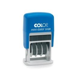 Colop Dátumbélyegző S 120 Mini Dátum, angol dátum betűvel kék