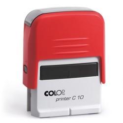 Colop Szövegbélyegző Printer C10 piros ház 10x27 mm
