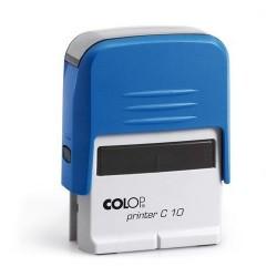 Colop Szövegbélyegző Printer C10 kék ház kék párnával 10x27 mm