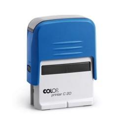 Szövegbélyegző Printer C20 kék ház kék párnával 14x38 mm