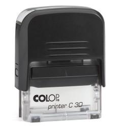 Szövegbélyegző Printer C30 átlátszó ház 18x47 mm
