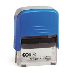 Szövegbélyegző Printer C30 kék ház kék párnával 18x47 mm