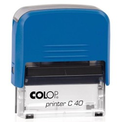 Colop Szövegbélyegző Printer C40 kék ház 23x59 mm