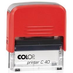 Colop Szövegbélyegző Printer C40 piros ház 23x59 mm