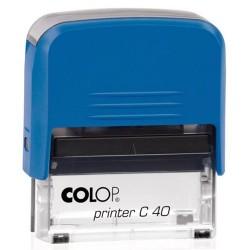 Szövegbélyegző Printer C40 kék ház kék párnával 23x59 mm