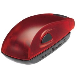 Stamp Mouse 30 rubin blanco párnával