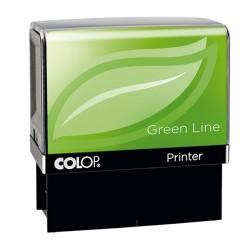 Szövegbélyegző Printer IQ 20 green line kék párnával 14x38 mm