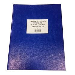 Lakásszövetkezeti Társasházi Tag Tulajdonos Nyilvántartás 50 lapos gyűrűskönyv