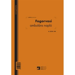 Fogorvosi ambuláns napló 250 lapos könyv A/4 álló