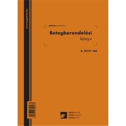 Betegberendelési könyv 56 lapos füzet 165x230 mm