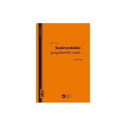 Szakrendelési gyógykezelési napló 100 lapos könyv A/4 álló