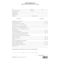 Jelentkezési lap gépjárművezetői egészségi alkalmassági orvosi vizsgálatra szabadlap A/4 álló