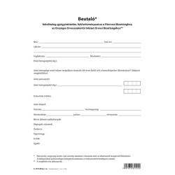 Beutaló fekvőbeteg gyógyintézetbe szabadlap A/4 négyoldalas