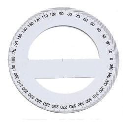 Szögmérő papír 360 fokos