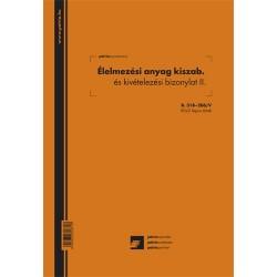 Élelmezési anyag kiszabási és kivételezési bizonylat II. 50x2 lapos tömb A/4 álló
