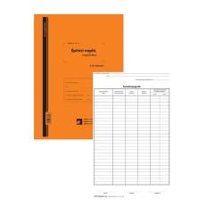 Építési napló 25x2 lapos tömb + 9 db 2 lapos garnitúra