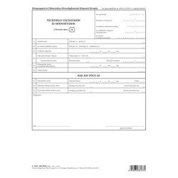 Technikai változások és módosítások szabadlap A/4 álló