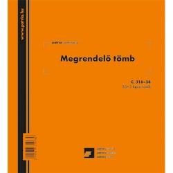 Megrendelő könyv 50x3 lapos tömb 185x203 mm