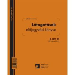 Látogatásokat előjegyző könyv 150 lapos 206x173 mm