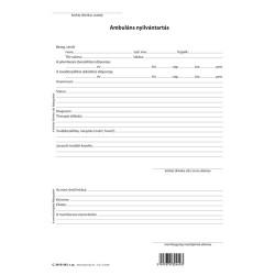 Ambuláns nyilvántartás 3 lapos garnitúra 203x295 mm