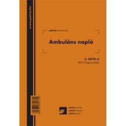 Ambuláns napló 50x2 lapos tömb A/5 álló
