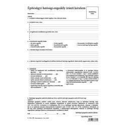 Építésügyi hatósági engedély iránti kérelem dosszié 207x320 mm