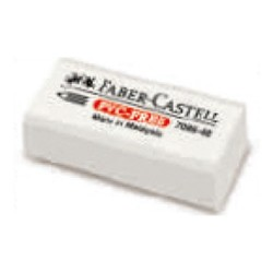 Radír Faber-Castell Vinyl fehér celofános