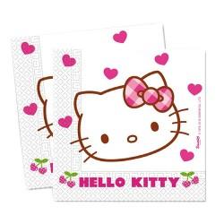 Szalvéta 33x33 cm 2 rétegű Hello Kitty