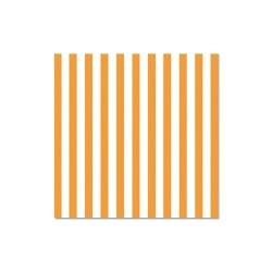 Szalvéta 33x33 cm 3 rétegű csíkos narancssárga 20 db/csomag