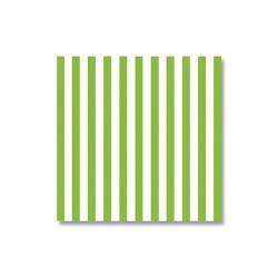Szalvéta 33x33 cm 3 rétegű csíkos zöld 20 db/csomag