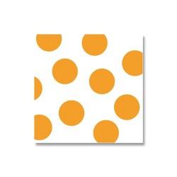 Szalvéta 33x33 cm 3 rétegű pöttyös narancssárga 20 db/csomag