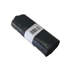 Hulladékgyüjtő zsák 50x60 cm 30l 20 db/tekercs fekete -i