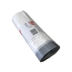 Hulladékgyüjtő zsák húzófüles 55x62cm 40l 15 db/tekercs fehér