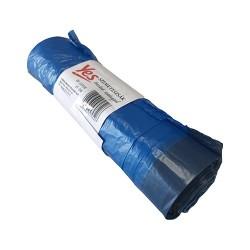 Hulladékgyüjtő zsák húzófüles 60x80 cm 70l 15 db/tekercs kék