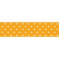 Asztalterítő 118x1000 cm papír damaszt dombornyomású pöttyös narancssárga