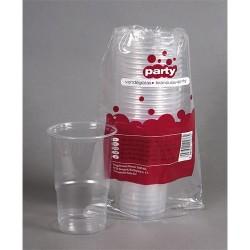 Pohár műanyag 5 dl sörös 20 db/csomag áttetsző