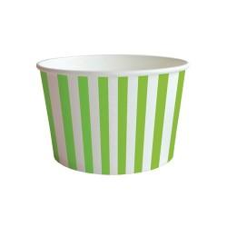 Pohár papír snack 10x6.5 cm csíkos zöld 6 db/csomag