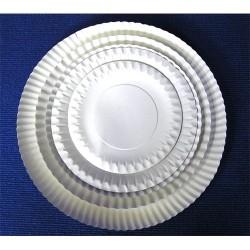 Tányér papír fehér 23 cm