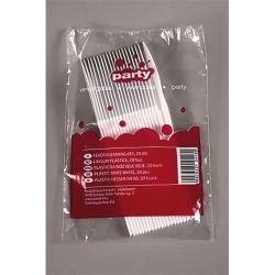 Evőeszköz kés műanyag fehér 20 db/csomag
