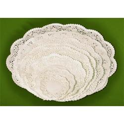 Tortacsipke 26x36 cm ovális fehér