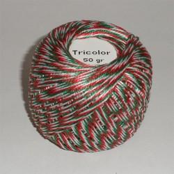Kötözőzsineg pamut nemzeti színű 50g 75 m/tekercs