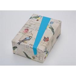 Díszcsomagoló Jung Design 50x75 cm 70g 2 oldalas újrahasznosított Maison madarak/kék