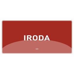 Információs matrica pd 10x20 cm Iroda bordó