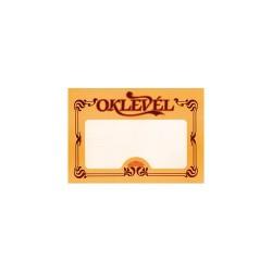Oklevél pd B/4 fekvő egyoldalas sárga/barna