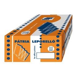 Leporelló PATRIA 240x12 coll 2 példányos 6 collonként perforált 1000 garn./doboz