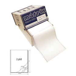 Leporelló MATRIX 240x12 coll 2 példányos 4 collonként perforált 900 garn./doboz