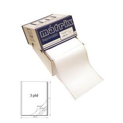 Leporelló MATRIX 240x12 coll 3 példányos 6 collonként perforált 600 garn./doboz