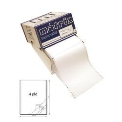 Leporelló MATRIX 240x12 coll 4 példányos 6 collonként perforált 450 garn./doboz